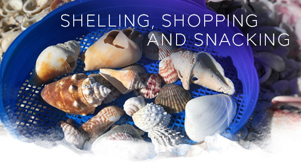 Shelling, Shopping and Snacking